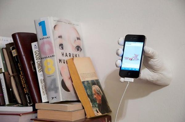 harry allen cast hand iphone dock spooky