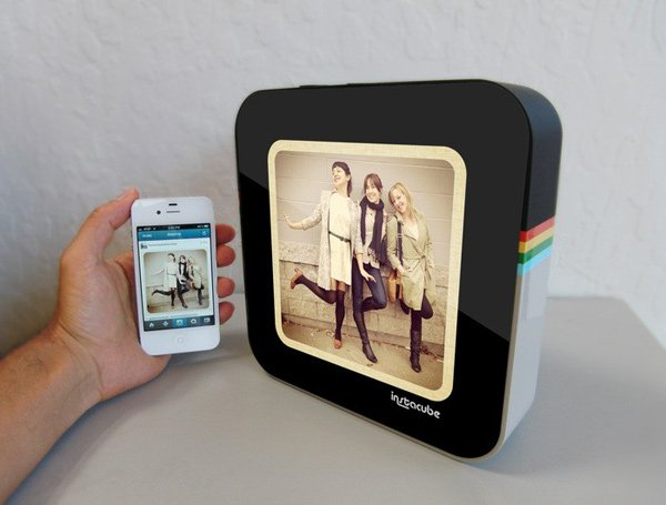 instacube instagram photo frame digital android kickstarter
