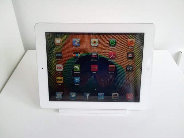 kitchen handle ipad stand front