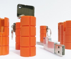 LaCie RuggedKey Flash Drive Looks Like an Orange Hand Grenade
