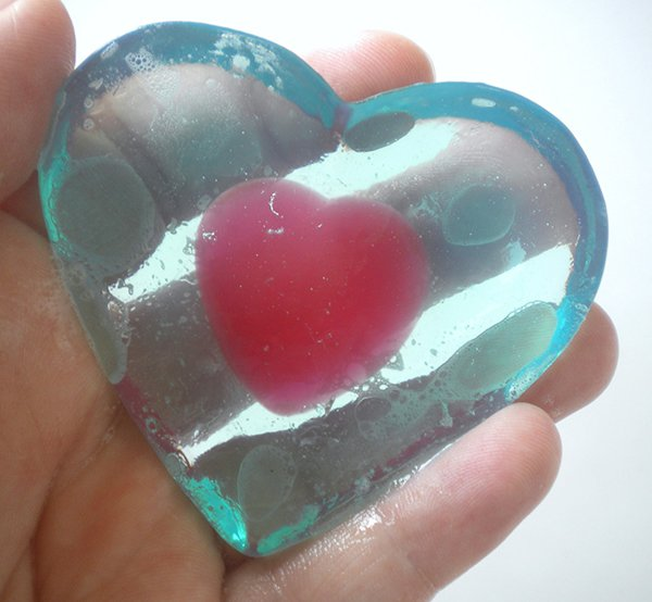 legend of zelda heart container soap