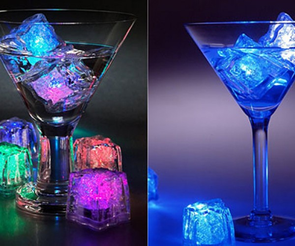 LiteCubes Freezable LED Lamps Make Drinks Twice as Cool