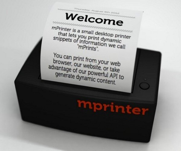 Print Tidbits of Your Life Anytime, Anywhere with the mPrinter