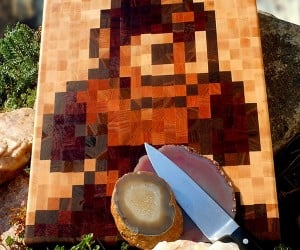 Mega Man Cutting Board Rocks, Man.