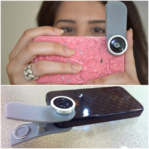mobi-lens clip-on smartphone tablet macro fisheye wide angle