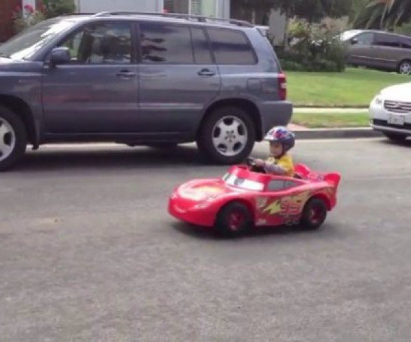 Dad Turns Kid's Toy into a Real Car