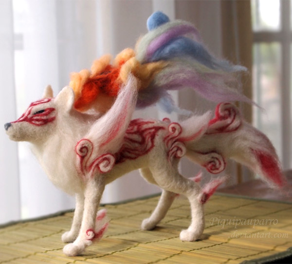 needle felted okami Shiranui