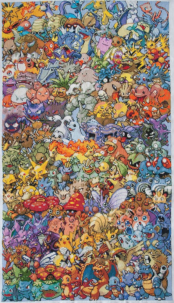 pokemon generation 1 cross stitch by eponases
