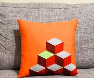 Q*bert Pillow Probably Makes Weird Noises When You Sit on It