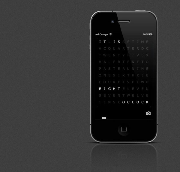 qlocktwo app watch ios android time words