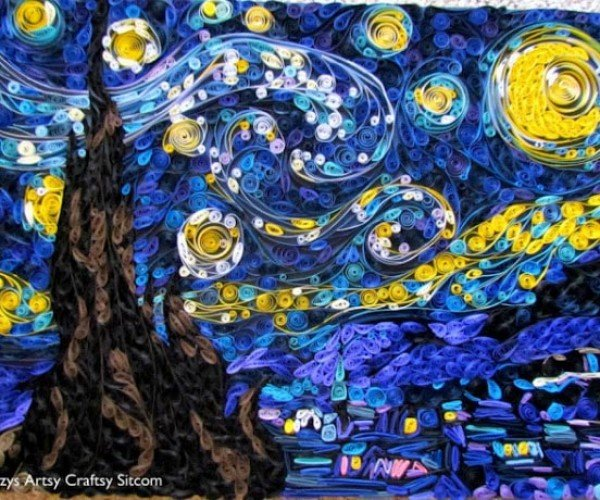 Papercraft Starry Night: Painting with Paper