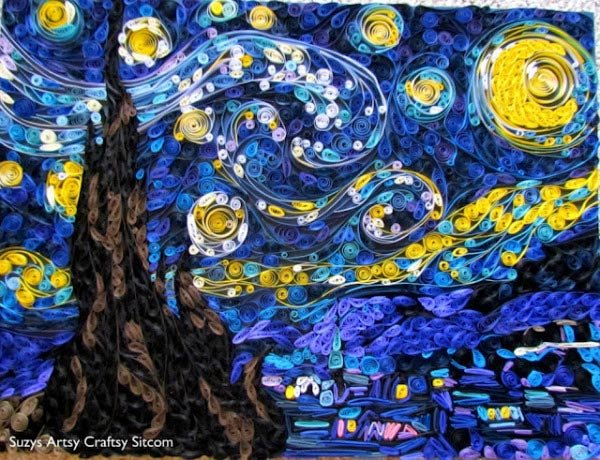 quilled papercraft starry night susan myers van gogh