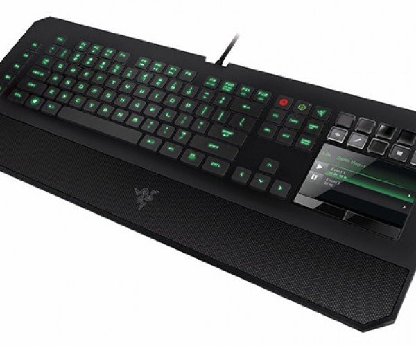 Razer DeathStalker Ultimate Keyboard has an Awesome Name. Oh and an LCD Trackpad