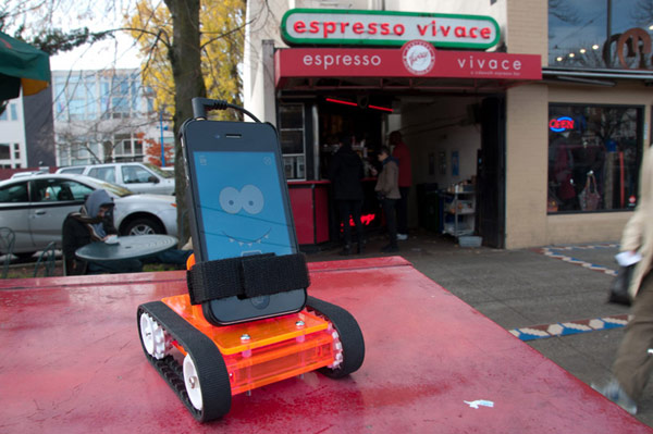 romo romotive robot smartphone brain espresso