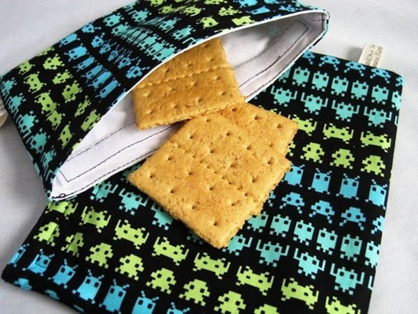 space invaders sandwich bag