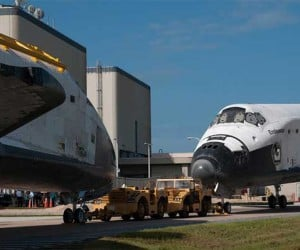 Space Shuttles Atlantis and Endeavour Meet Nose-to-Nose One Last Time