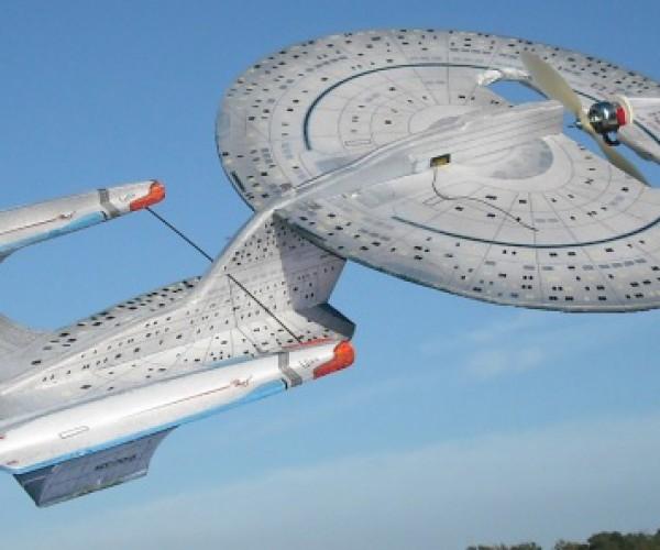 Starship Enterprise RC Plane: Boldly Go Zip Around the Park