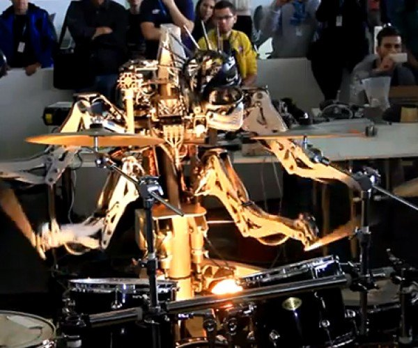 Robot Drummer Has Two Times More Arms (and Two Times More Groupies) Than You