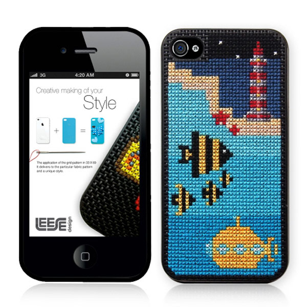 stipin diy stitch leese design iphone case summer night