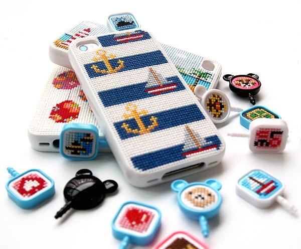 leese design korea case diy cross-stitch case iphone