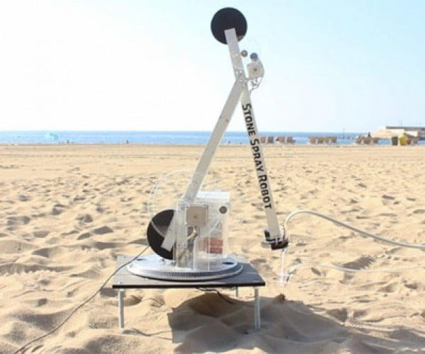 Stone Spray Robot, The In Situ Robotic 3D Printer