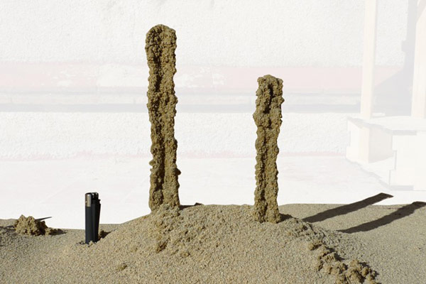 stone spray robot 3d printer architecture columns