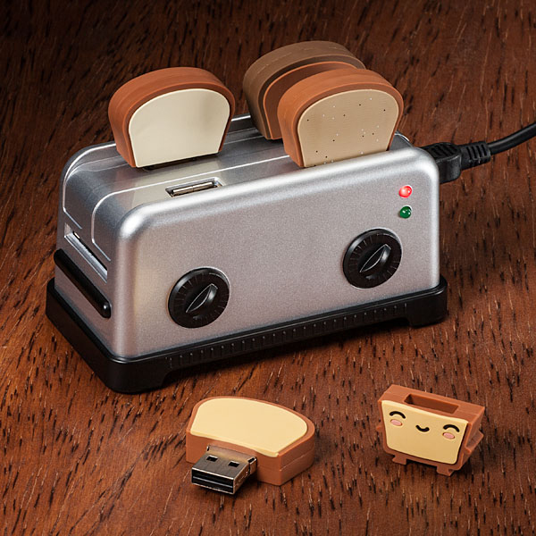 toaster usb hub toast flash drives