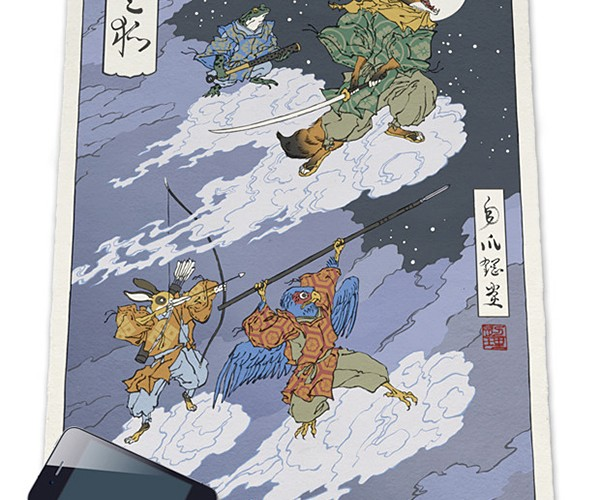 Ukiyo-e Heroes Woodblock Prints: More OG than Pixel Art
