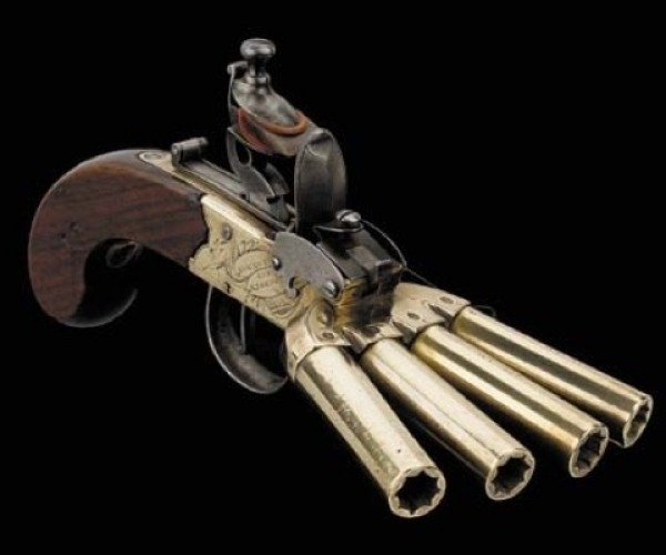 Four-Barrel Gun for When Your Target Doesn't Really Matter