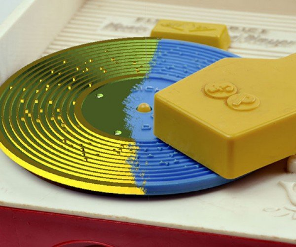 3D Printed Records for Fisher Price Toy Player: New Tunes on Old Grooves