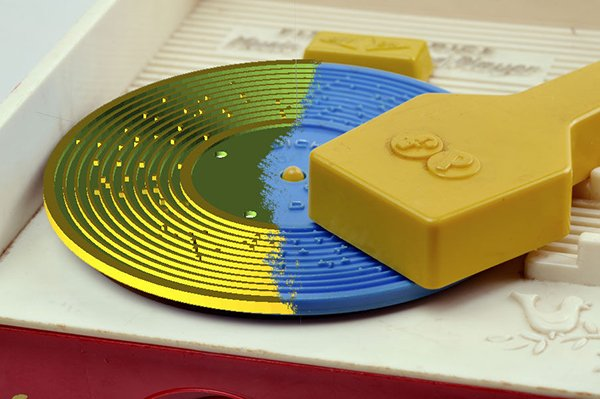 3d printed record for fisher price toy player 2