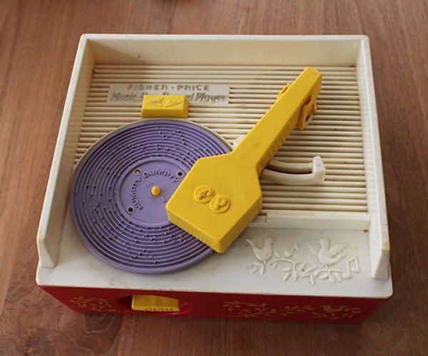 3d printed record for fisher price toy player