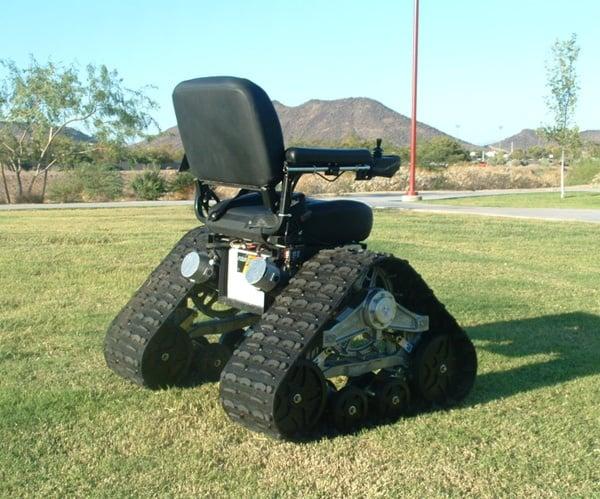 Tank chair is an all terrain wheelchair that will take you for All terrain motorized wheelchairs