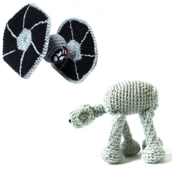 amigurumi at at tie fighter star wars