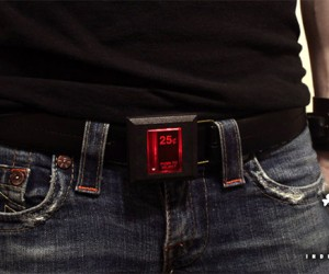 Arcade Coin Slot Belt Buckle: Insert Coin to Play