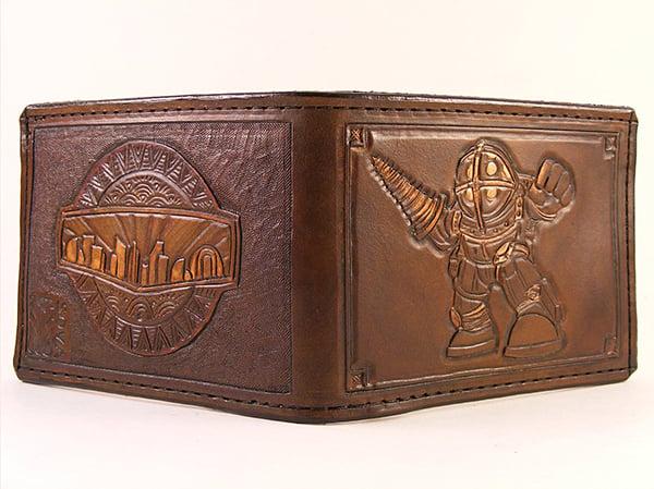 bioshock wallet by sova leatherworks 2
