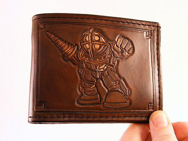 bioshock wallet by sova leatherworks