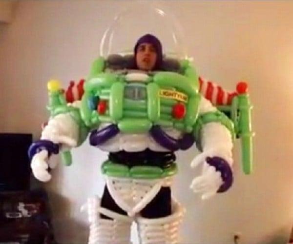 Buzz Lightyear and Ninja Turtle Balloon Costumes: Pop Goes the World