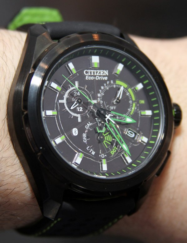 citizen proximity bluetooth watch green