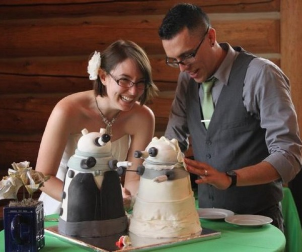 Dalek Wedding Cakes Are Dressed to Exterminate