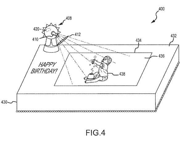 disney interactive cake patent 1