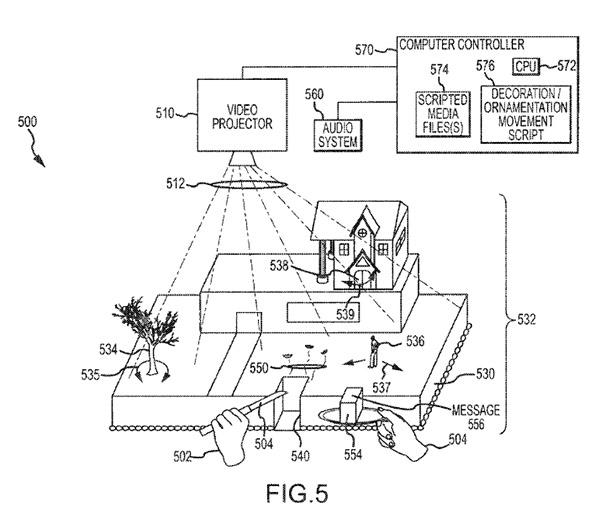 disney interactive cake patent 3