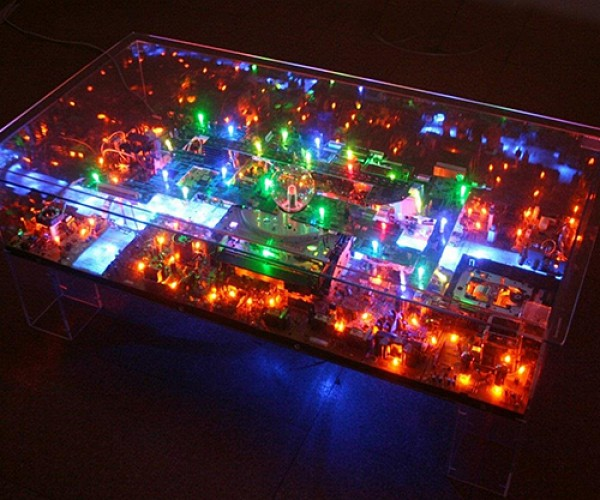 Miniature Metropolis Made of Used Electronics: Electri-City