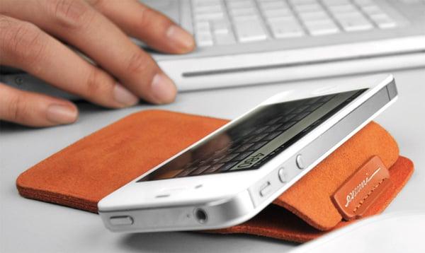 evouni nano stand pouch smartphone microfiber toray