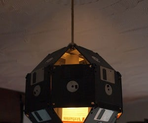 Floppy Disk Lampshade: What Drunk Geeks Wear on Their Heads