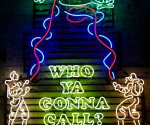 Neon Ghostbusters Sign, Who Ya Gonna Call? an Electrician