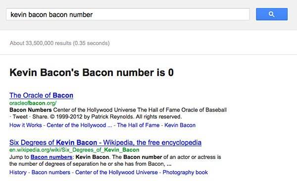 google bacon number 2