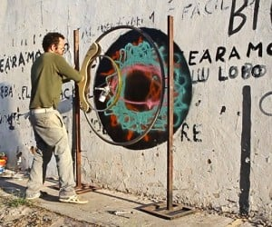 Graffiti Artist Makes Spray Paint Spirograph