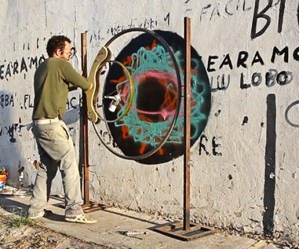 Graffiti Artist Makes Spray Paint Spirograph