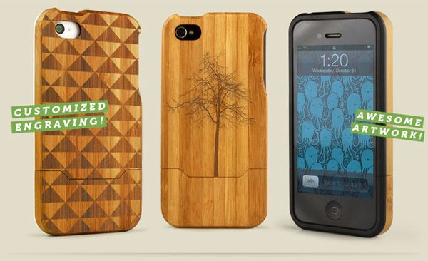 grove case iphone 5 4 4s handmade wood pre-order